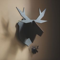 Hanging Moose | Animal Figure Black