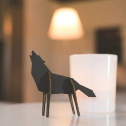 Wolf | Animal Figure Black