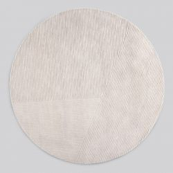 Rug Row Circular | Light Grey