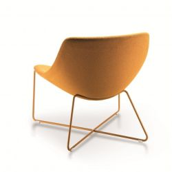 Mishell Armchair | Power Coated Crossed Legs