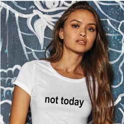T-shirt Not Today | White