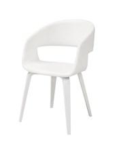 Stuhl Novo 60 Weiß | Eiche Beine