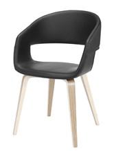 Stuhl Novo 60 Weiß geölt | Schwarz