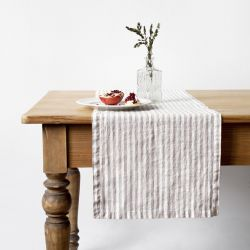 Table Runner 150 x 40 cm  | Natural Stripe