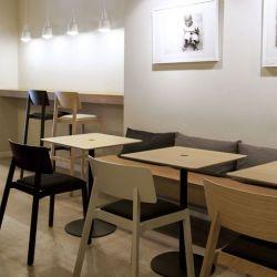 Núcleo Tisch | Schwarzer Rahmen 80 x 80cm