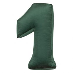 Cushion Number Velvet Green | 1