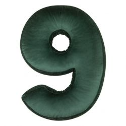 Cushion Number Velvet Green | 9