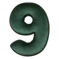 Kissen Samt Nummer Grün  | 9
