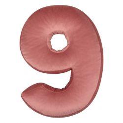 Kissen Samt Nummer Rosa | 9