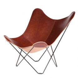 Butterfly Chair Leather | Oak
