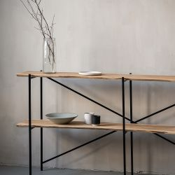 Shelf Oak Steel