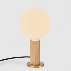 Table Lamp Knuckle with Sphere IV Bulb | Oak