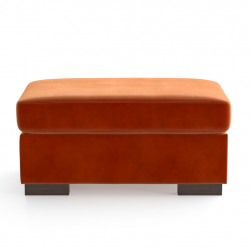 Velvet Pouf Bree | Orange