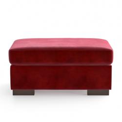 Velvet Pouf Bree | Red