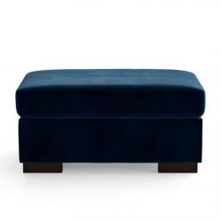 Velvet Pouf Bree | Blue