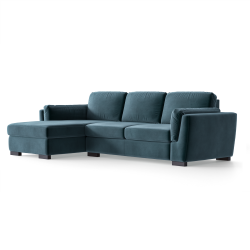 Ecksofa Bree Links | Petrolblau