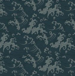 Wallpaper Ocean Spray Duck Dark | Grey