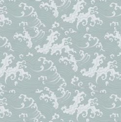 Wallpaper Ocean Spray Duck Egg | Blue