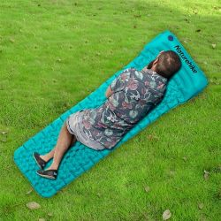 Outdoor Inflatable Air Mattress Single | Blue