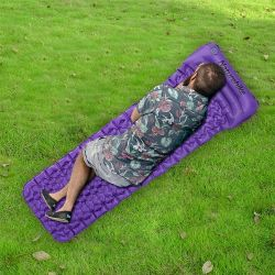 Outdoor Inflatable Air Mattress Single | Purple