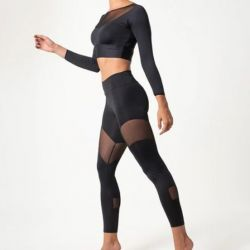 Set of Compressive Legging and Top 7081 7062 | Black
