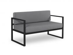 2 Seater Sofa Nicea | Dark Grey Frame & Dark Grey