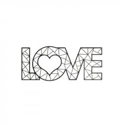 Wanddekoration Love