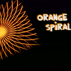 Blankett-Kraftfeld | Orange Spirale