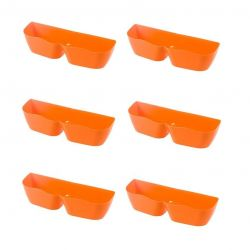 Shoe Rack Up Orange | Set of 6