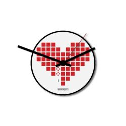 Wall Clock Love Invaders