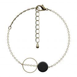 Bracelet Ortografi | Black & Gold