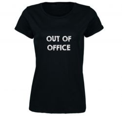♀ T-shirt Out Of Office | Noir