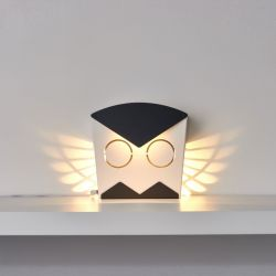 Wall Light Owl | Aluminium | Black Plug