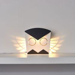 Wandlamp Uil | Aluminium | Aansluiting Zwart