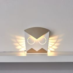 Wall Light Owl | Aluminium | Gold Plug