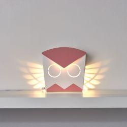 Wall Light Owl | Aluminium | Pink Plug