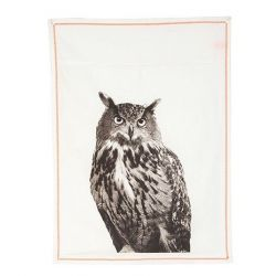 Tea Towel | Plain White Owl