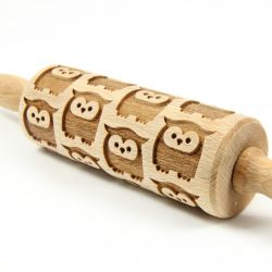 Engraved Rolling Pin | Owls