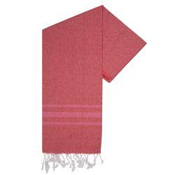 Hammam Handtuch Streifen Vibe | Rot
