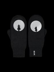 Zweilagige Reflektierende Handschuhe Kamu | Schwarz