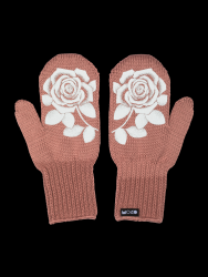 Single Layer Reflective Gloves Ruusu | Old Rose