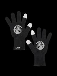 Reflektierende Touchscreen-Handschuhe Mörkö | Schwarz