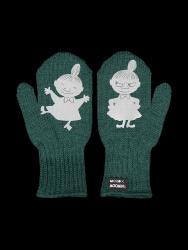 Single Layer Reflective Kids Gloves Kuje | Forest Green