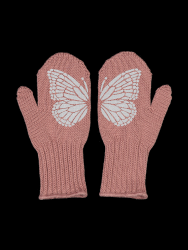 Single Layer Reflective Kids Gloves Taika | Old Rose