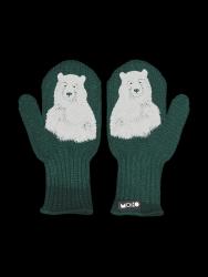 Single Layer Reflective Kids Gloves Nanuk | Forest Green