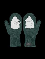 Single Layer Reflective Kids Gloves Mörkö | Forest Green