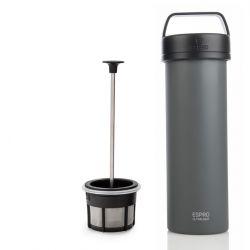 P0 Ultralight Travel French Press w/ Coffee Filter 475 ml | Grey
