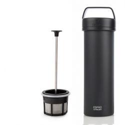 P0 Ultralight Travel French Press w/ Coffee Filter 475 ml | Black Matt