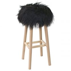 Moumoute Stool Large | Black | Long Hairs