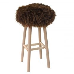 Moumoute Stool Large | Brown | Short Hairs